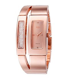V19.69 Women's Abbigliamento Sportivo SRL Rose Goldtone Crystal Watch