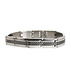 Steel Impressions Stainless Steel Tire Track Bracelet