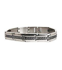 Steel Impressions Stainless Steel Tire Track Bracelet