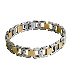 Steel Impressions Two-Tone Stainless Steel Bracelet