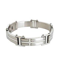 Steel Impressions Stainless Steel Sidewides Cross Bracelet