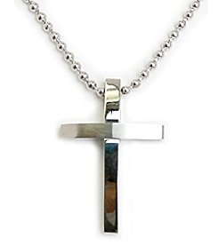 Steel Impressions Stainless Steel Silver Cross Pendant