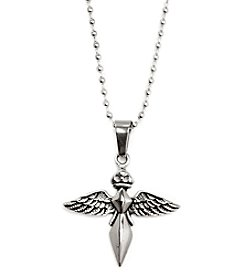 Steel Impressions Stainless Steel Blade Angel Pendant