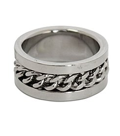 Steel Impressions Stainless Steel Twisted Ring