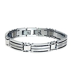 Steel Impressions Stainless Steel Twisted Rope Bracelet