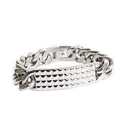 Steel Impressions Stainless Steel Studded Bracelet