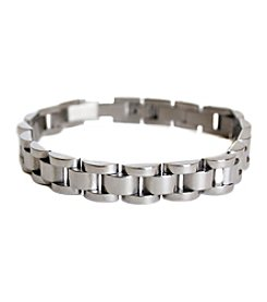 Steel Impressions Stainless Steel Half Oval Link Bracelet