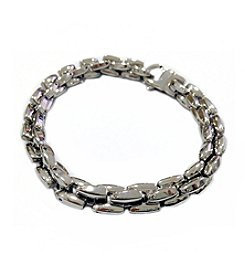 Steel Impressions Stainless Steel H-link Twisted Bracelet
