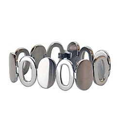 Uptown Steel Stainless Steel Open Oval Bracelet