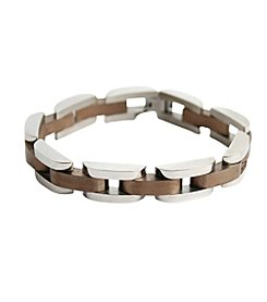 Steel Impressions Stainless Steel Rounded Edge Bracelet