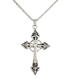 Steel Impressions Stainless Steel Gothic Cross Pendant