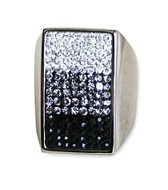 Uptown Steel Stainless Steel Rectangle Gem Ring