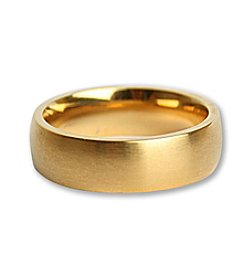 Steel Impressions Stainless Steel Gold Plate Ring