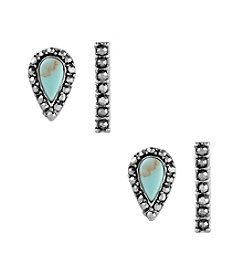 Lucky Brand® Turquoise Stud Earring Set