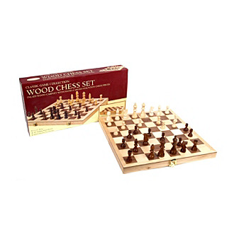 Deluxe Folding Wood Chess Set