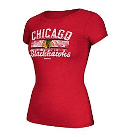 Reebok® NHL® Chicago Blackhawks Women's Flag Fade Tee