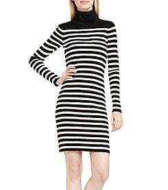 Vince Camuto® Stripe Turtleneck Dress