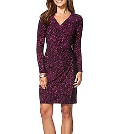 Chaps® Front Wrap Dress