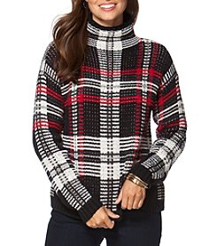 Chaps® Plaid Mockneck Sweater