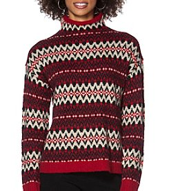 Chaps® Patterned Mockneck Sweater