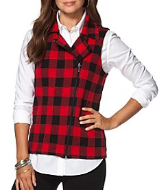 Chaps® Buffalo Check Sweater Vest