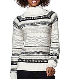 Chaps® Patterned Mockneck Sweater