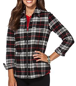 Chaps® Plaid Twill Full-Zip Workshirt