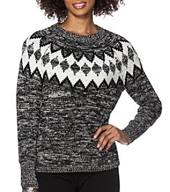 Chaps® Patterned Crewneck Sweater