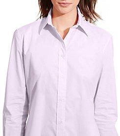 Lauren Ralph Lauren® Petites' Stretch Broadcloth Shirt