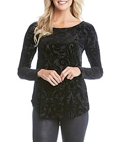 Karen Kane® Velvet Burnout Top