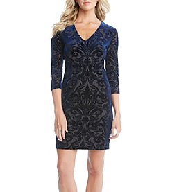 Karen Kane® Velvet Burnout Sheath Dress