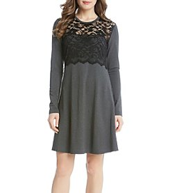 Karen Kane® Scallop Lace Overlay Dress