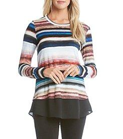 Karen Kane® Wanderluxe Stripe Contrast Hem Top