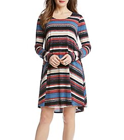 Karen Kane® Multi-Stripe Maggie Trapeze Dress