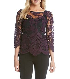 Karen Kane® Embroidered Bracelet Sleeve Top