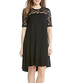 Karen Kane® Pencil Sleeve Lace Maggie Trapeze Dress
