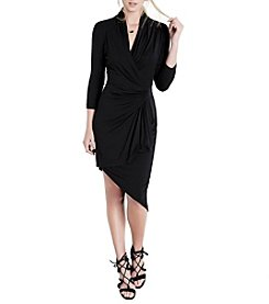 Karen Kane® Asymmetrical Cascade Wrap Dress