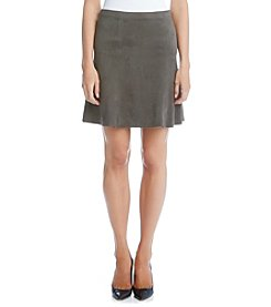 Karen Kane® Flared Faux Suede Skirt