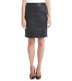 Karen Kane® Croco Faux Leather Skirt