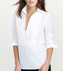 Lauren Ralph Lauren® Pleated-Front Cotton Tunic