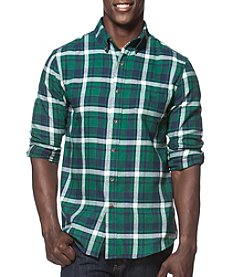 Chaps® Men's Large Scale Plaid Long Sleeve Button Down Flannel Shirt