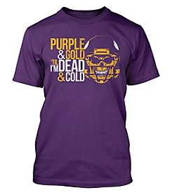 Drink Wisconsinbly™ Purple & Gold Till I'm Dead & Cold Short Sleeve Tee
