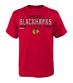 adidas® NHL® Chicago Blackhawks Boys' 8-20 Identified Short Sleeve Tee