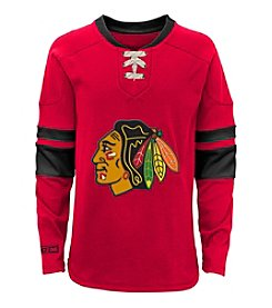 adidas® NHL® Chicago Blackhawks Boys' 4-7 Faceoff Long Sleeve Jersey Tee
