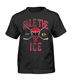 Adidas® NHL® Chicago Blackhawks Boys' 4-7 Rule The Ice Tee