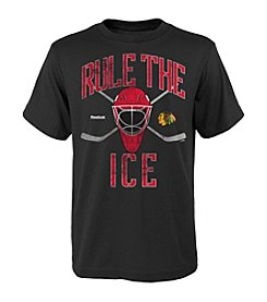 adidas® NHL® Chicago Blackhawks Boys' 8-20 Rule The Ice Short Sleeve Tee