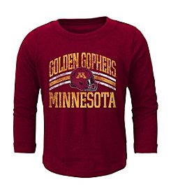 adidas® NCAA® Minnesota Golden Gophers Boys' 2T-4T Helmet Stripes Long Sleeve Tee
