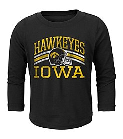 adidas® NCAA® Iowa Hawkeyes Boys' 2T-4T Helmet Stripes Long Sleeve Tee