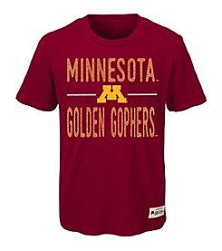 adidas® NCAA® Minnesota Golden Gophers Boys' 4-20 Descendant Short Sleeve Tee