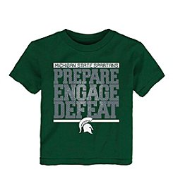 adidas® NCAA® Michigan State Spartans Boys' 2T-4T Preparation Short Sleeve Tee